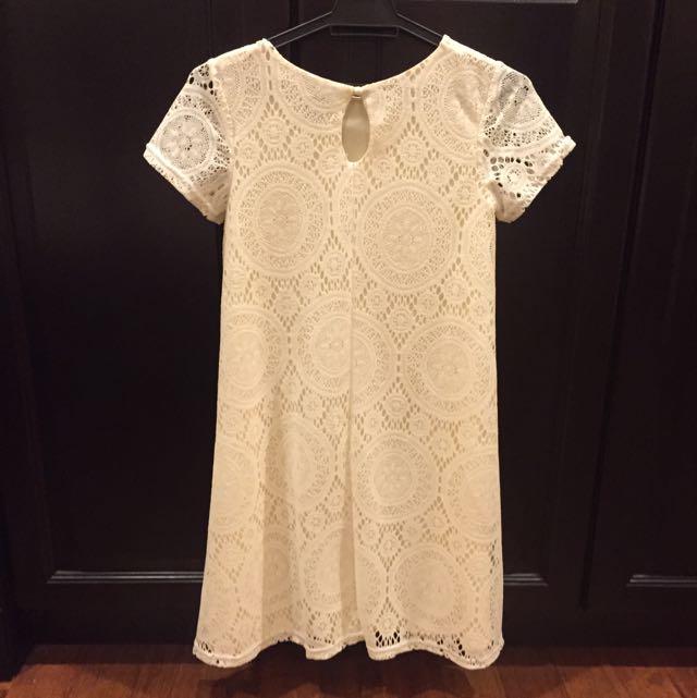 Pre Loved: ASOS Lace Swing Dress With Kaleidoscope Pattern