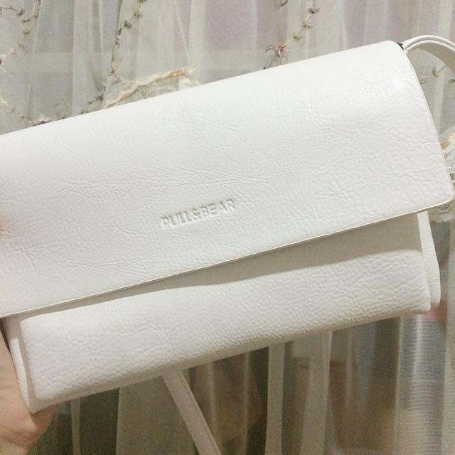 ✨Pull&Bear白色小包包