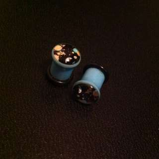 0g Outer Space Acrylic Plugs