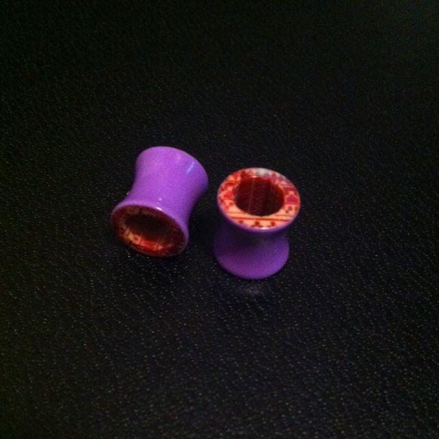 0g Pink/purple Acrylic Aztec Tunnels