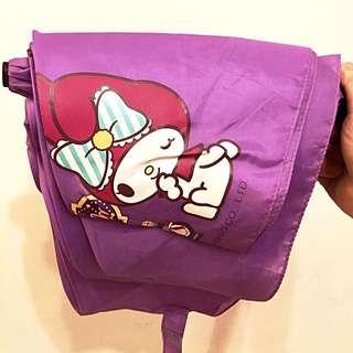 二手 紫色 美樂蒂輕量折傘 雨傘