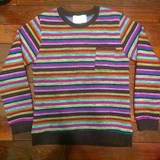 韓國 彩虹刷毛毛衣 9成新