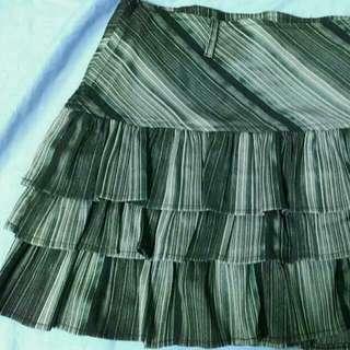 斜紋氣質蛋糕裙