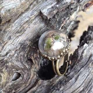 Mini Sea Scape Ring, Handmade.