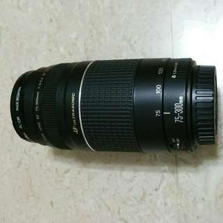 Canon EF75-300MM F/4-5.6 III USM ( almost new 9.5 )