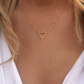 預購款⚓️歐美代購極致簡約Forever 金屬鏤空三角短款項鍊