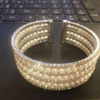 珍珠鑽感 手環