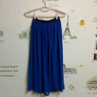 降至99元↓↓↓全新 寶藍色雪紡長裙