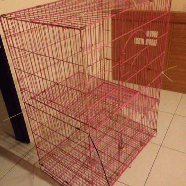 雙層挑高摺疊貓籠
