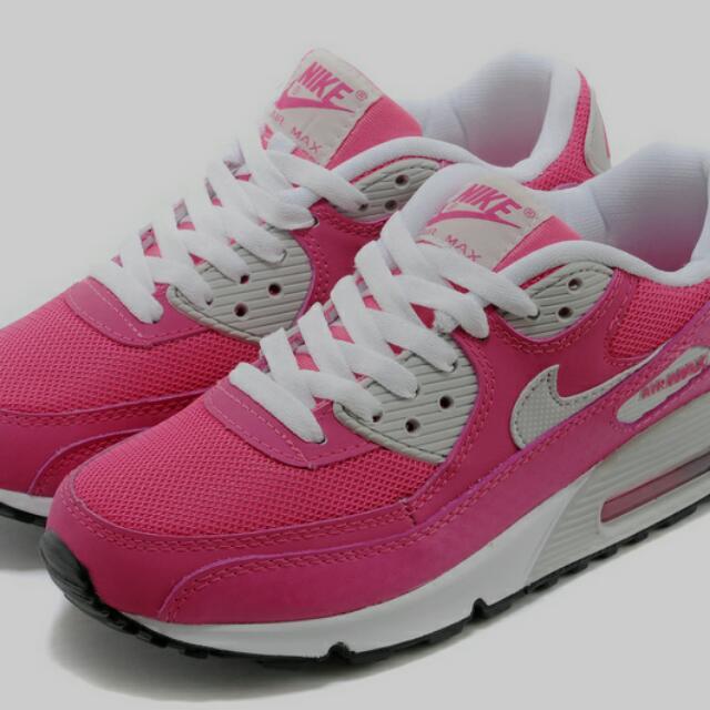 正品 Nike Air Max GS 90 桃粉紅 運動鞋 氣墊鞋 慢跑鞋