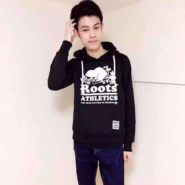 全新正品 Roots 秋冬男生厚棉帽t 黑色 綠色兩色