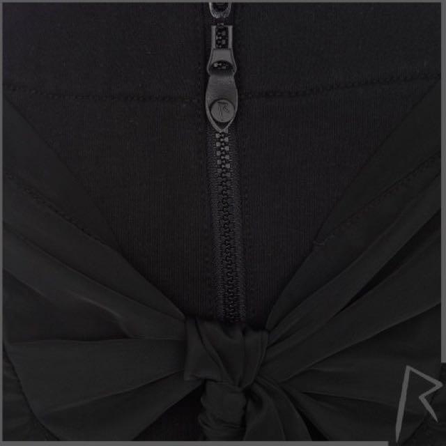 Never Worn: River Island Black Rihanna tied shirt zip front skirt