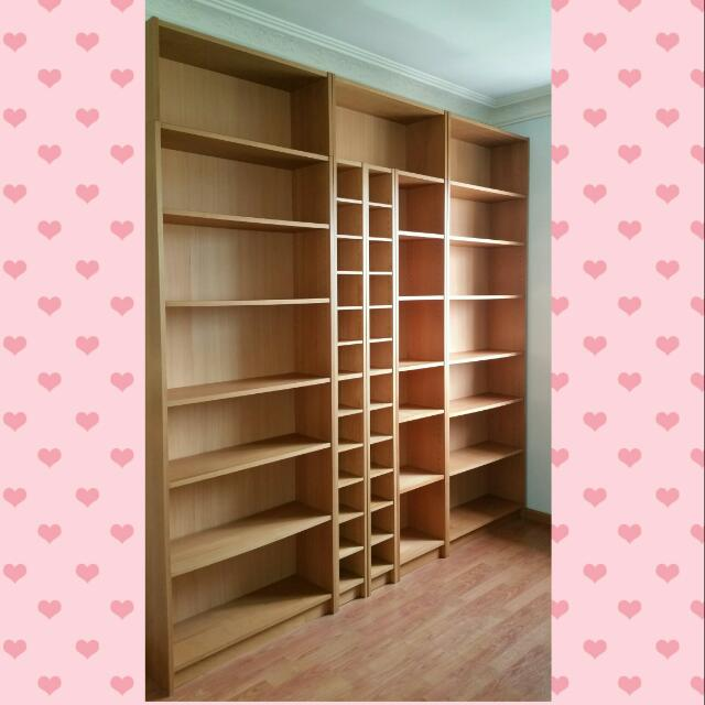 ikea billy gnedby bookcase bookshelf cd vcd rack furniture on carousell. Black Bedroom Furniture Sets. Home Design Ideas