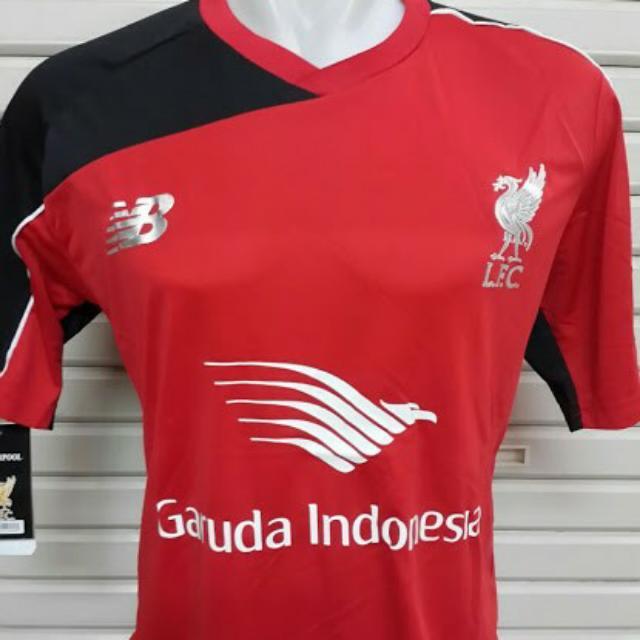 506ed267f28 Jersey Liverpool Training Garuda Indonesia Merah