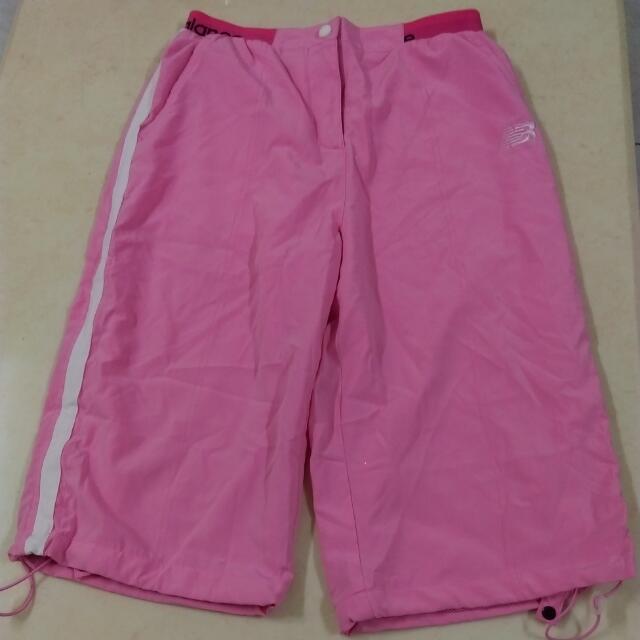 全新new  balance  粉色170公分7~8分褲(褲長約60公分)