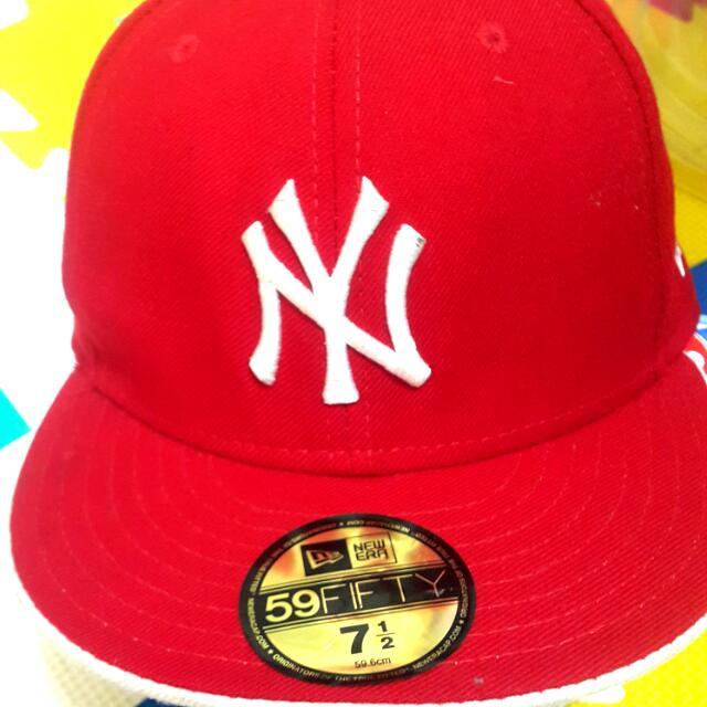 (出清九成新)正版NEWERA洋基棒球帽附防塵盒