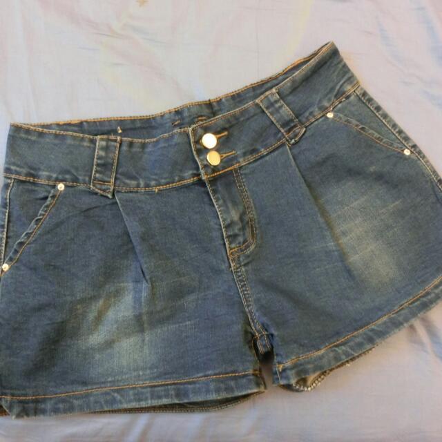 大尺碼XL牛仔短褲