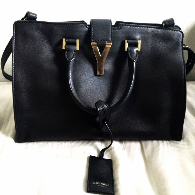 0ce32784fb21 YSL Saint Laurent Classic Petite Cabas Y Bag Black