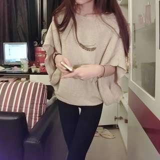 慵懶短袖針織衫💯💯