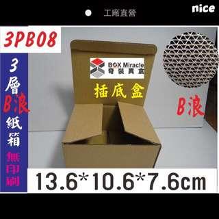 《3PB08》3層B浪插底盒