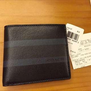 coach 男夾 有零錢袋 現貨在台 有紙盒 購買證明 小白卡