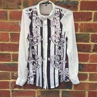 Lumier Bariano Front Printed Long Sleeve Shirt