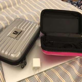 LUXGEN 小型旅行收納盒(銀色、粉紅色兩個ㄧ起賣)