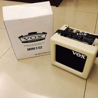 VOX MINI3-G2 可攜式迷你吉他音箱!(今年4月自日本購回)9.9成新
