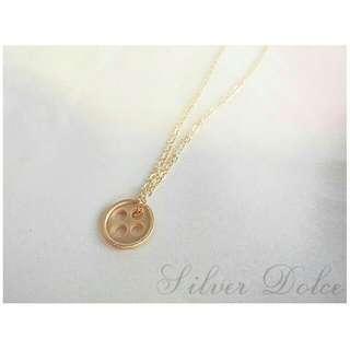 Lucky Golden Button Necklace