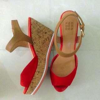 Pedder Red Platform Sandal Wedge