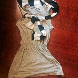 灰色洋裝👧🏼👗