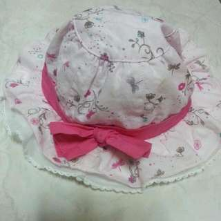 寶寶蝴蝶結遮陽帽