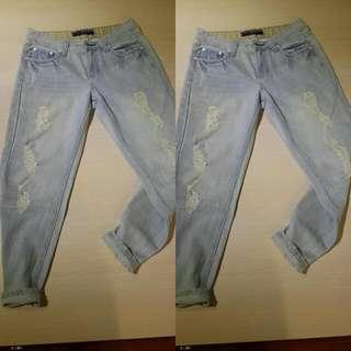 男友褲(淺藍色系)