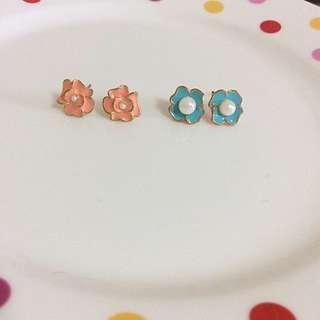 可愛小花耳環