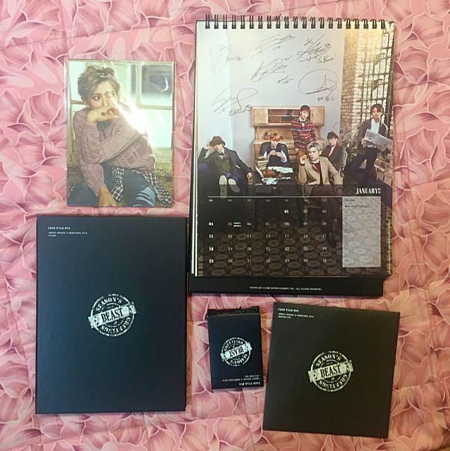2014韓版 Beast桌曆光碟組 二手