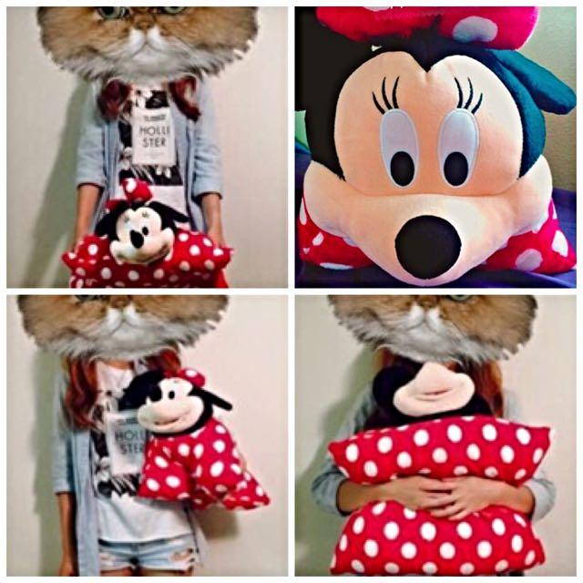 現貨免運✨美國加州迪士尼樂園✨超亮眼的米妮2用抱枕