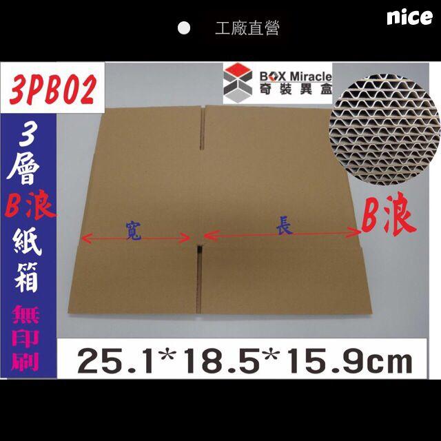 《3PB02》3層B浪紙箱=5元/只 熱賣再追加3000只