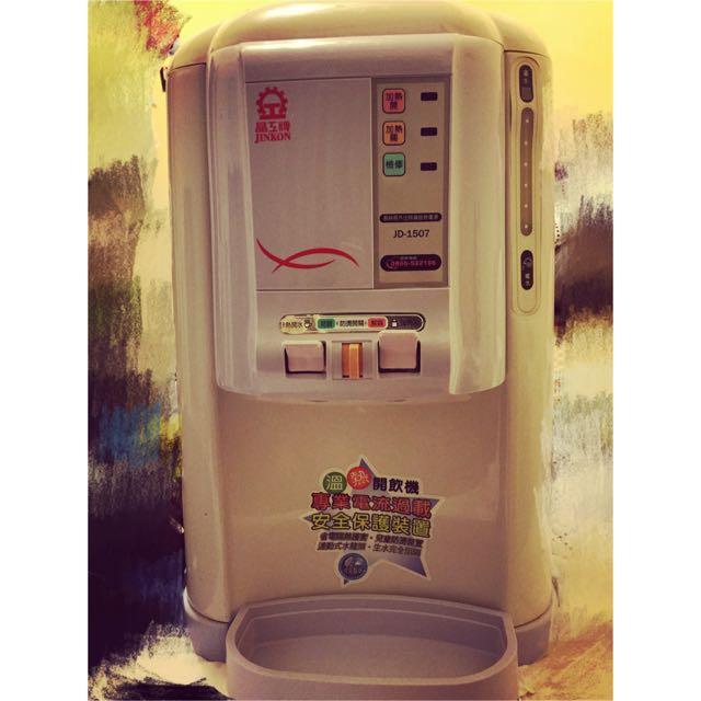 (便宜賣)晶工牌8公升全開水溫熱開飲機JD-1507