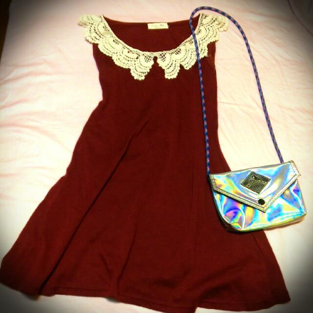 二手棗紅裙