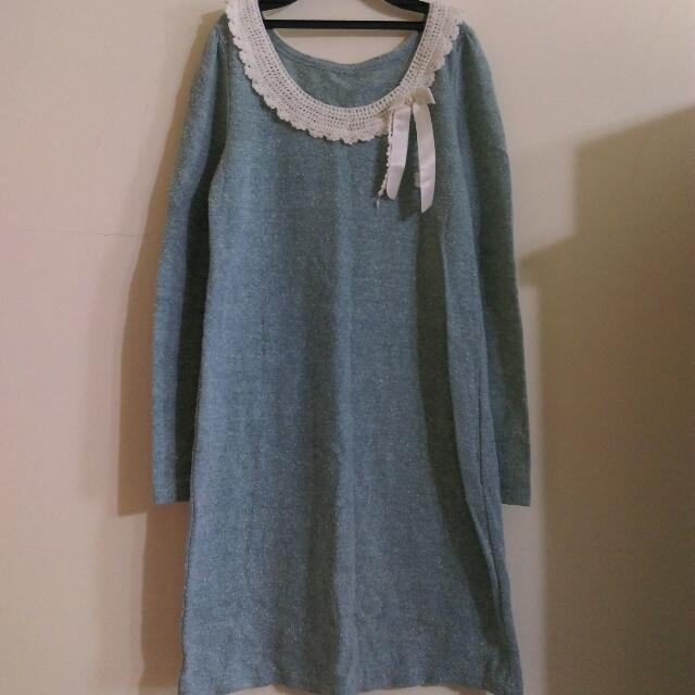 🎉降價🎉長版混色針織洋裝