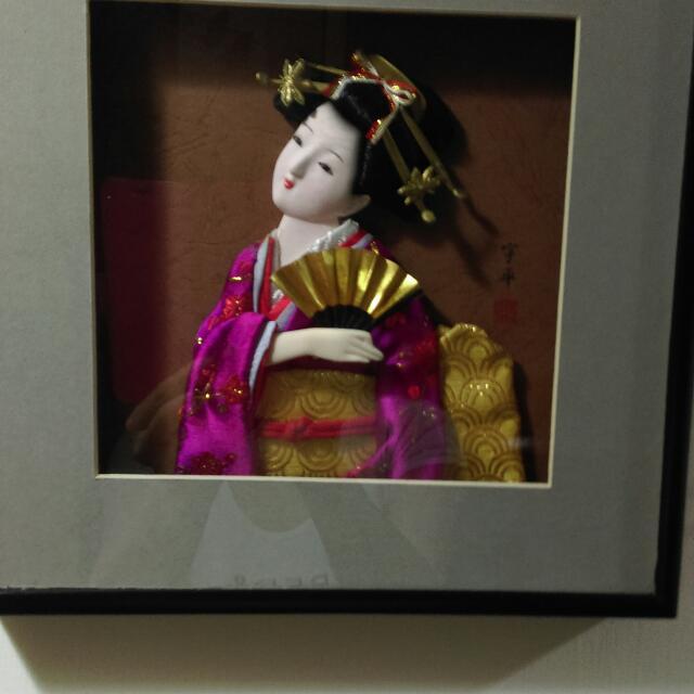精美日本藝妓掛框