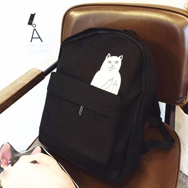 黑貓 書包