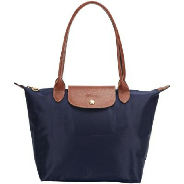 全新 Longchamp 長把/M號 深藍