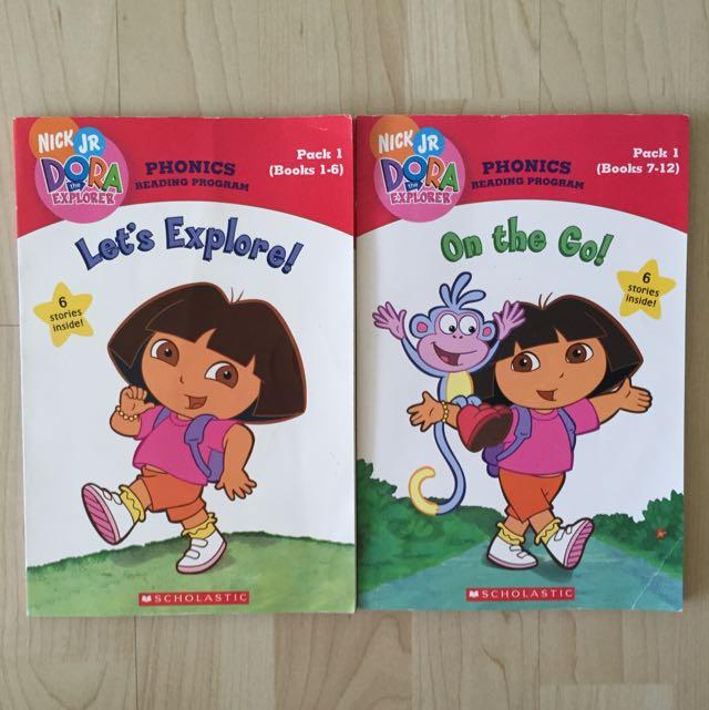 dora the explorer phonics reading program books babies kids on