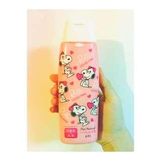 [全新]SNOOPY 聯名的化妝乳液 高保濕 化妝水+乳液 日本帶回