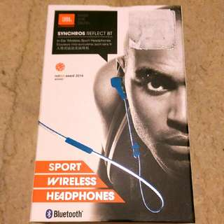 Brand New - JBL In-Ear Wireless Sports Headphones (Synchros Reflect BT)