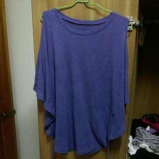全新藍紫色綁帶露肩衣