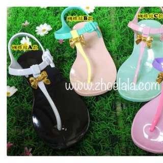 全新 泰國zhoelala 涼鞋(黑色)