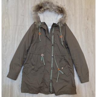 日貨專櫃iimk軍綠色保暖外套