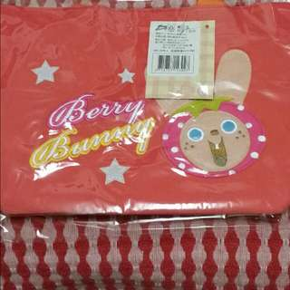 草莓兔棉布手提袋